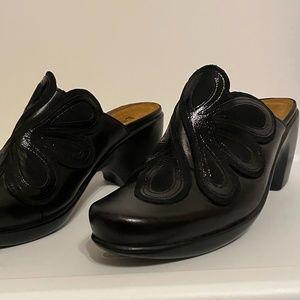 NAOT Black Mule Sandals Sz 9